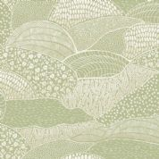 Into The Woods by Makower UK - 5839 -  Abstract Hills & Fields in Green - 1854_G - Cotton Fabric